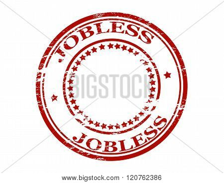 Rubber stamp with word jobless inside vector illustration