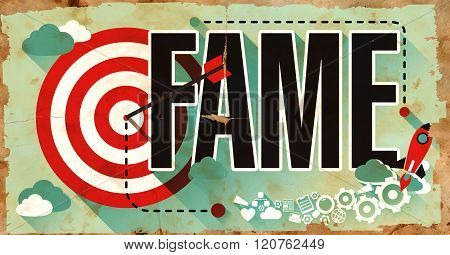 Fame on Grunge Poster.