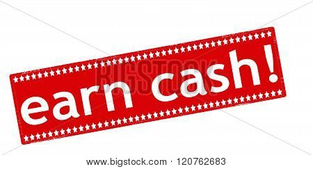 Rubber stamp with text earn cash inside vector illustration