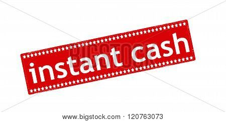Rubber stamp with text instant cash inside vector illustration