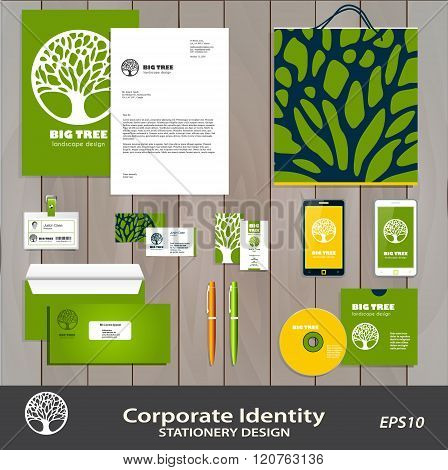 Abstract Tree Business sign & corporate identity set