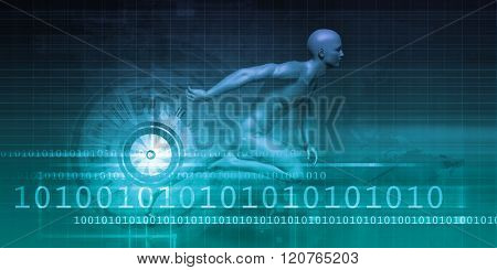 Digital Marketing Technologies and Fast Paced Results Concept