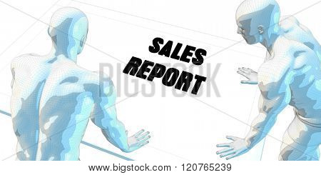 Sales Report Discussion and Business Meeting Concept Art