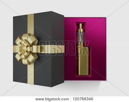 vaping ecig battery mod gift isolated