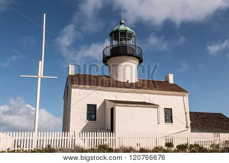 Old Point Loma Lighthouse in San Diego
