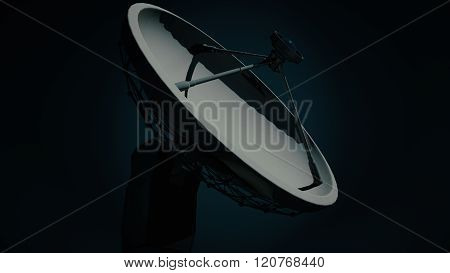Radio Telescope Antenna Observatory Array, Dish At Night