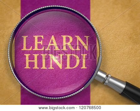 Learn Hindi through Loupe on Old Paper