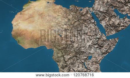 Dying Earth Global Warming Heavy Pollution Affected And Dried Africa