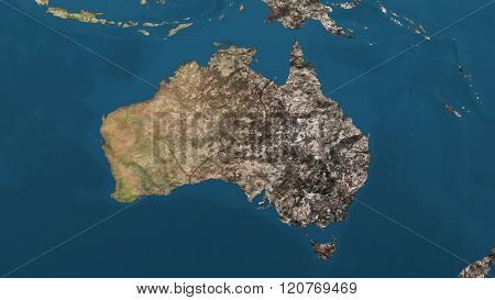 Dying Earth Global Warming Heavy Pollution Affected And Dried Australia