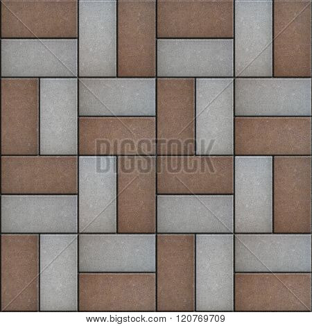 Brown and Gray Pavement Rectangle Laid as Square.