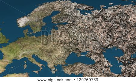 Dying Earth Global Warming Heavy Pollution Affected And Dried Europe