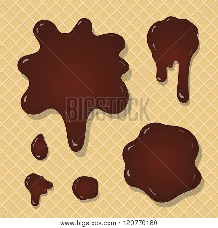 Chocolate splash background