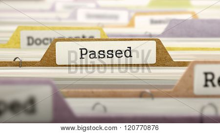 Passed Concept on Folder Register.