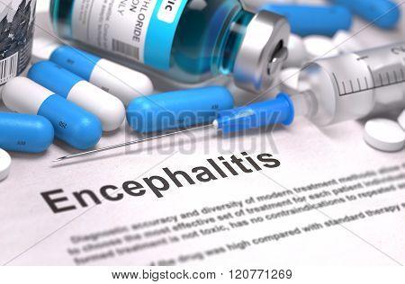 Diagnosis - Encephalitis. Medical Concept.