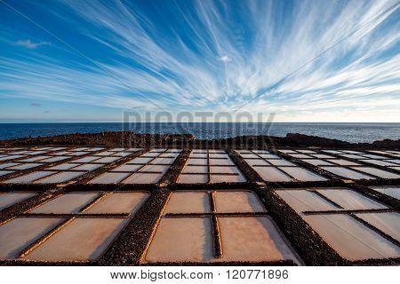 Salt manufacturing on La Palma island