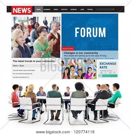 Forum Discussion Communication Information Concept