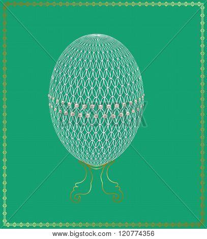 Openwork Easter egg