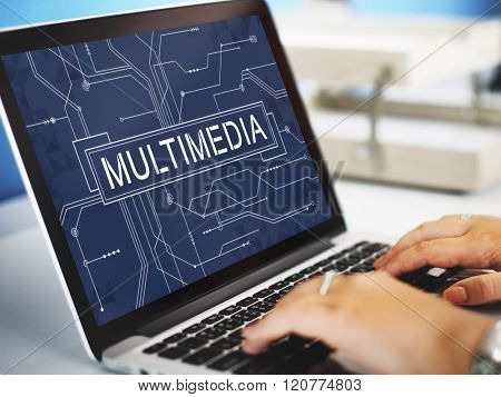 Multimedia Online Technology Future Concept
