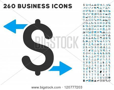 Payouts Icon with Flat Vector Set