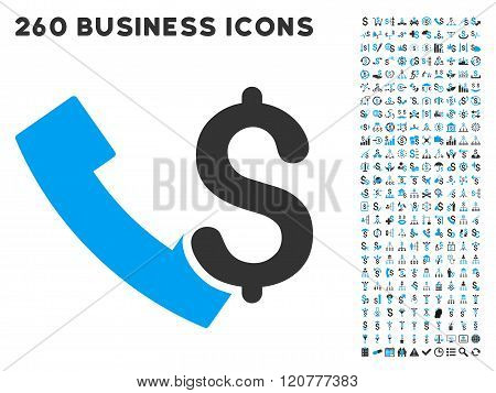 Payphone Icon with Flat Vector Set