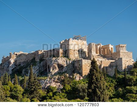 Acropolis Hill In Athens Greece