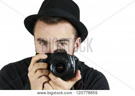 Youing Man With Camera