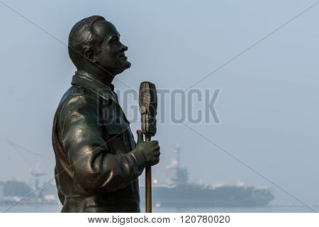 Bronze Statue of Bob Hope in San Diego, California