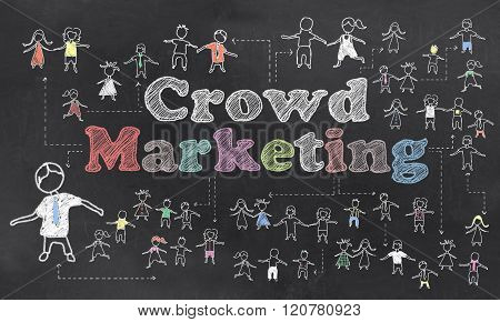 Crowd Marketing Illustration
