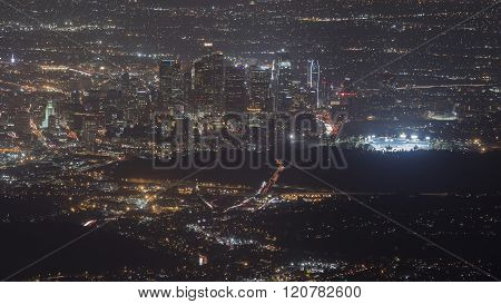 Great Los Angeles Area Night Scape From Top