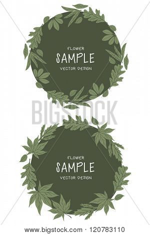 Vector Floral Frame Collection. Set Of Floral Wreath illustration