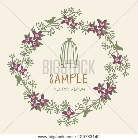 Vector Floral Frame. Floral Wreath illustration
