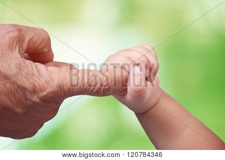 Elderly And Baby