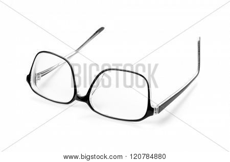 Spectacles isolated on white background.