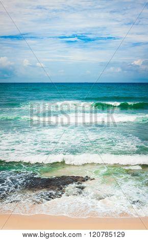 View of the Indian ocean. Vertical panorama