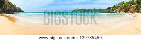 Beautiful view of a beach. Panorama