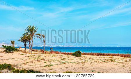Los Arenales Del Sol Beach. Alicante Province, Costa Blanca. Spain