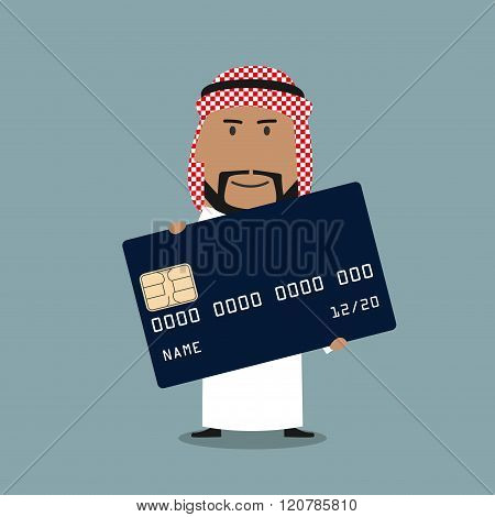 Arab businessman with credit card