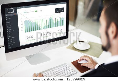 Customer Marketing Sales Dashboard Graphics Concept