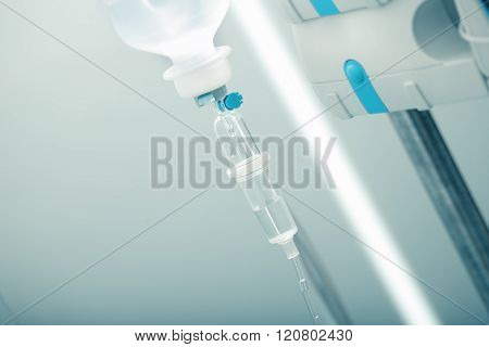 Intravenous Drip In Hospital Concept Of Chemotherapy