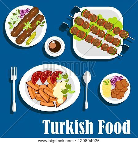 Traditional turkish dishes and coffee