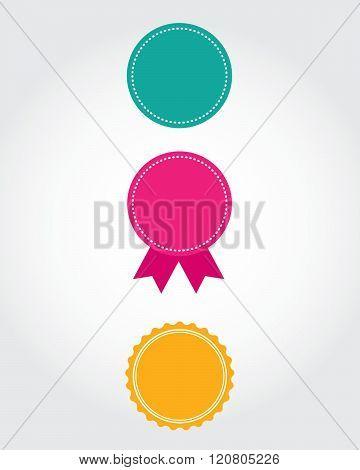A Variety of Vector Seals and Ribbons