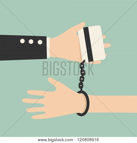 Hands Tied As Credit Card