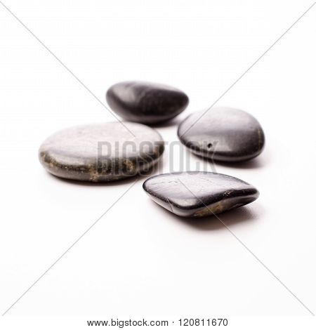 Massage Stones On White