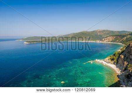 Adriatic turquoise sea shore landscape