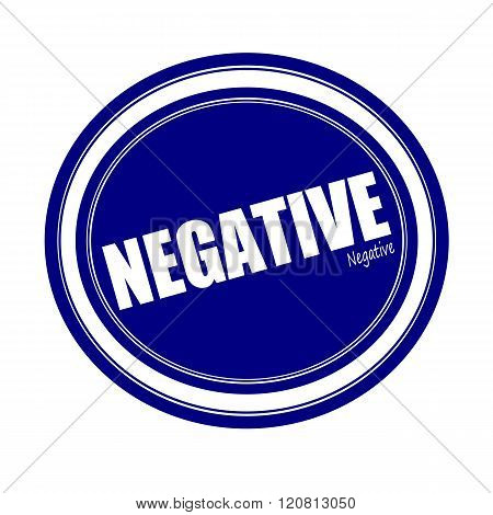 an images of NEGATIVE white stamp text on blue