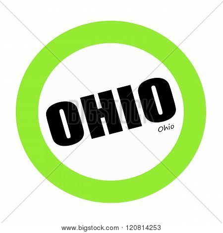 an images of OHIO black stamp text on white