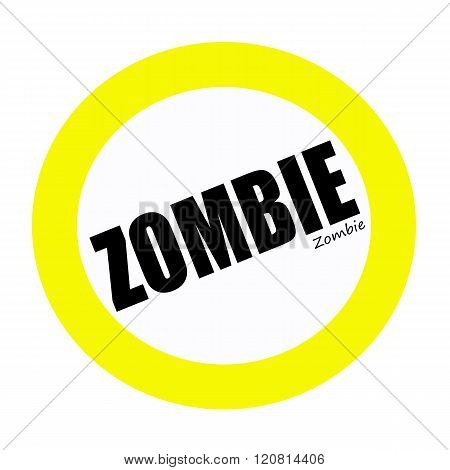 an images of ZOMBIE black stamp text on white
