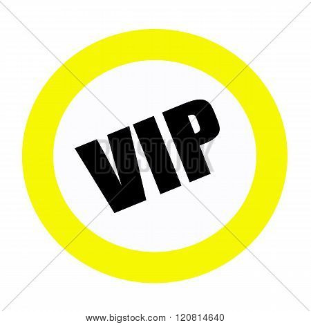 an images of VIP black stamp text on white