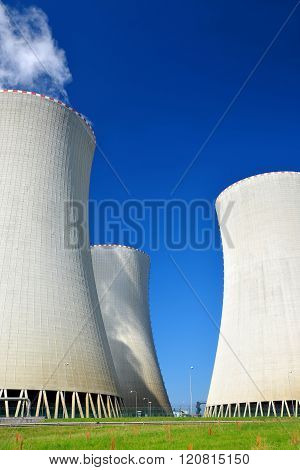 Cooling towers of nuclear power plant Temelin