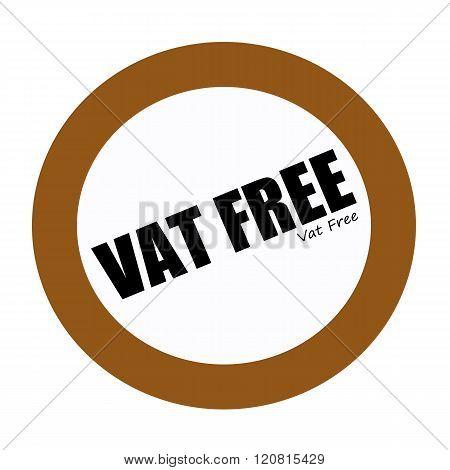 VAT FREE black stamp text on white
